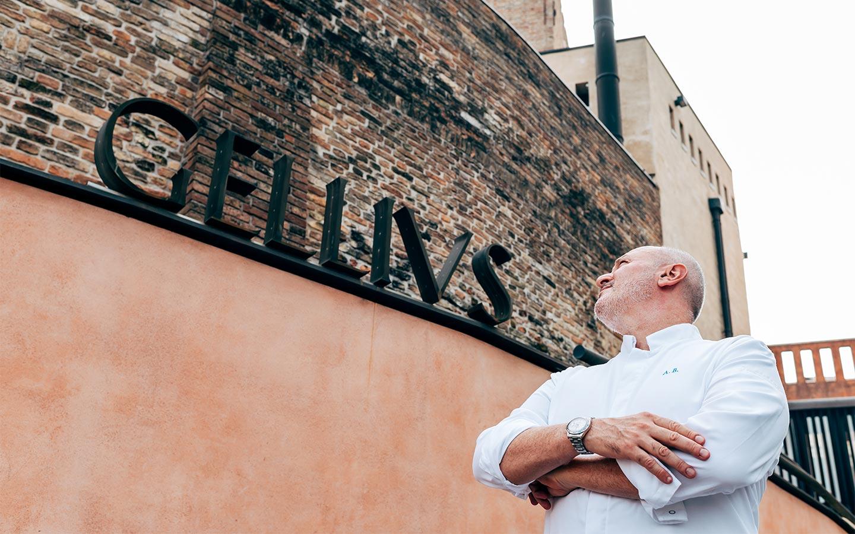 Chef Alessandro Breda insegna esterna - Ristorante stellato Gellius Oderzo